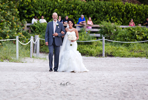 father bride walk down the aisle miami b