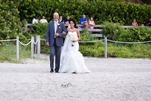 father bride walk down the aisle miami b