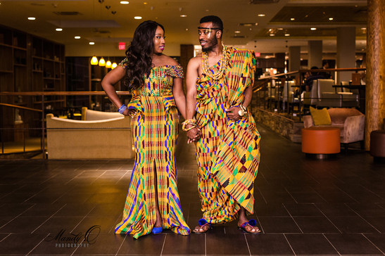 Ghanaian traditional marriage couple eng