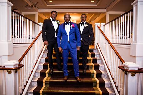 groom groomsmen portrait pose wedding me
