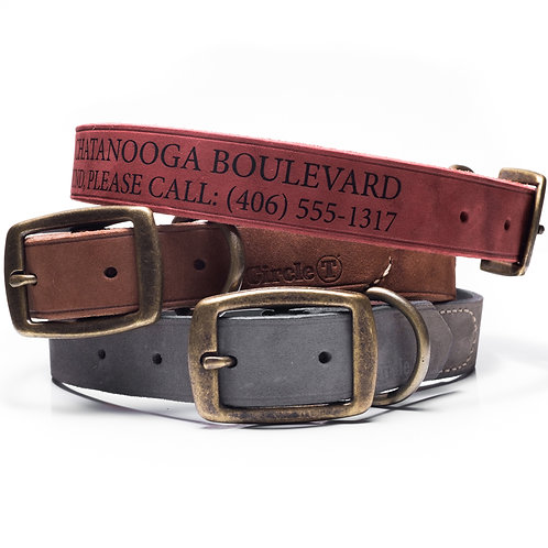 Custom Leather Dog Collar (neck measurement 17 -19 inches)