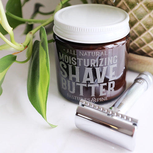 All Natural MOISTURIZING SHAVE BUTTER [4 oz. unscented]
