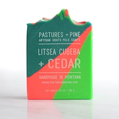 LITSEA CUBEBA + CEDAR Goat's Milk Soap