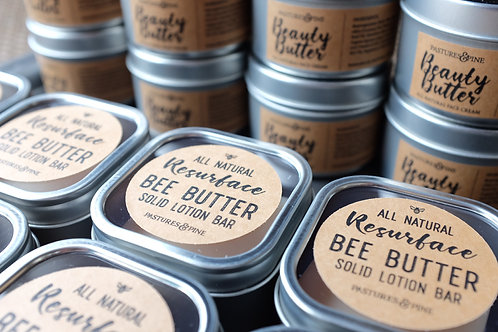 RESURFACE BEE BUTTER: Severe Dry Skin Therapy Solid Lotion Bar