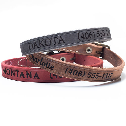Custom Leather Dog Collar (neck measurement 11.5 -13 inches)