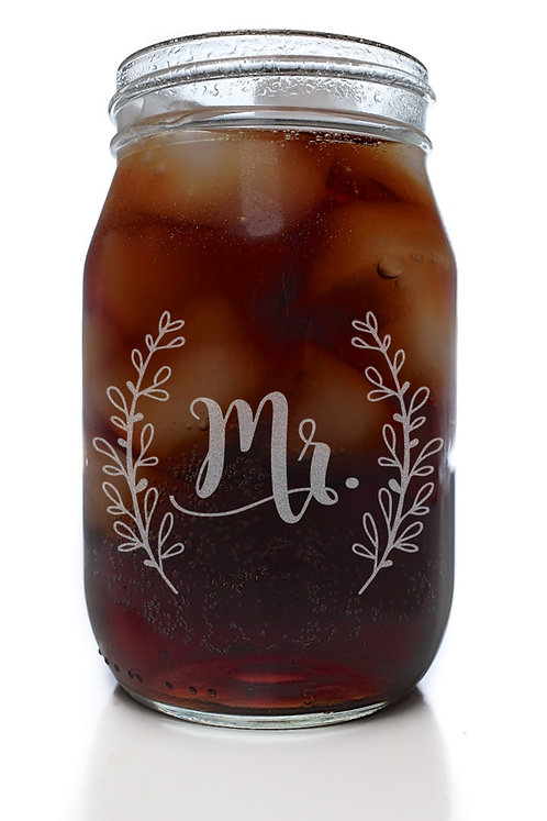 Mr. Laurel Mason Jar