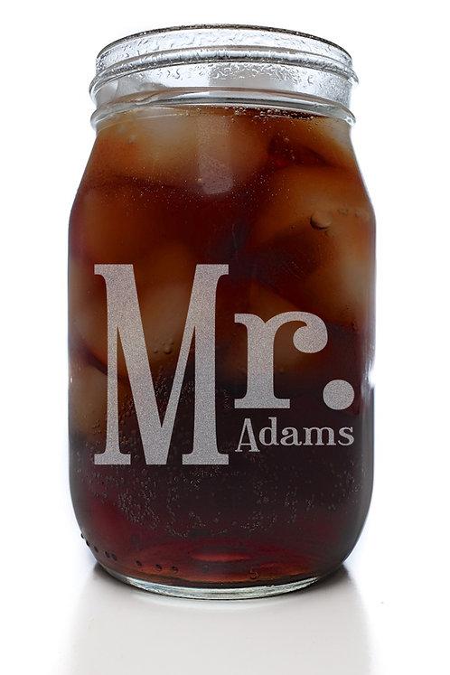 CUSTOM Mr. Mason Jar