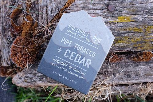 PIPE TOBACCO + CEDAR Goats Milk Soap