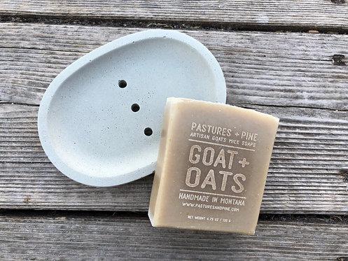 handmade CONCRETE SOAP DISH