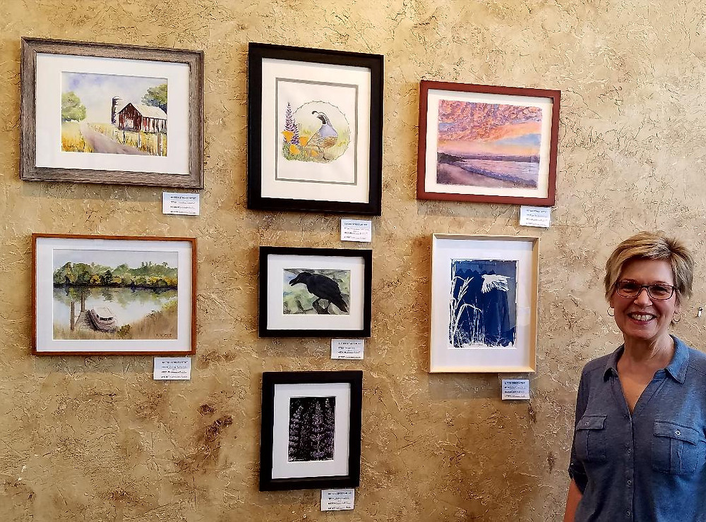 My work at Sutter Street Artists' Gallery
