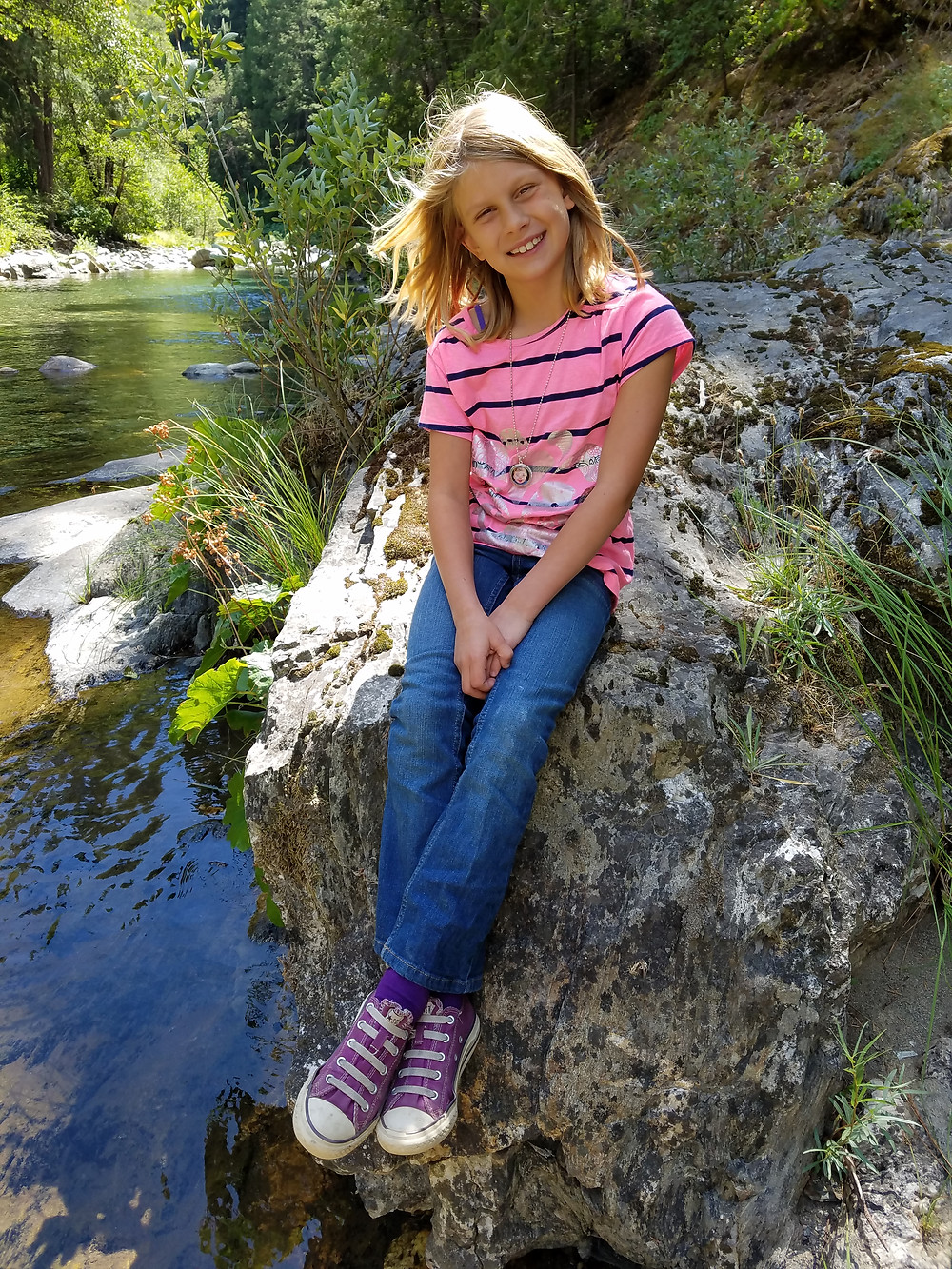 Julie on a family trip to Downieville.