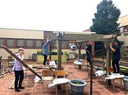 Linton Courtyard Classroom build.