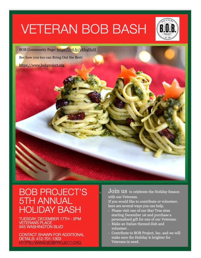 Please support our Veteran BOB Bash Event.