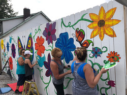 Interactive Butterfly Mural.
