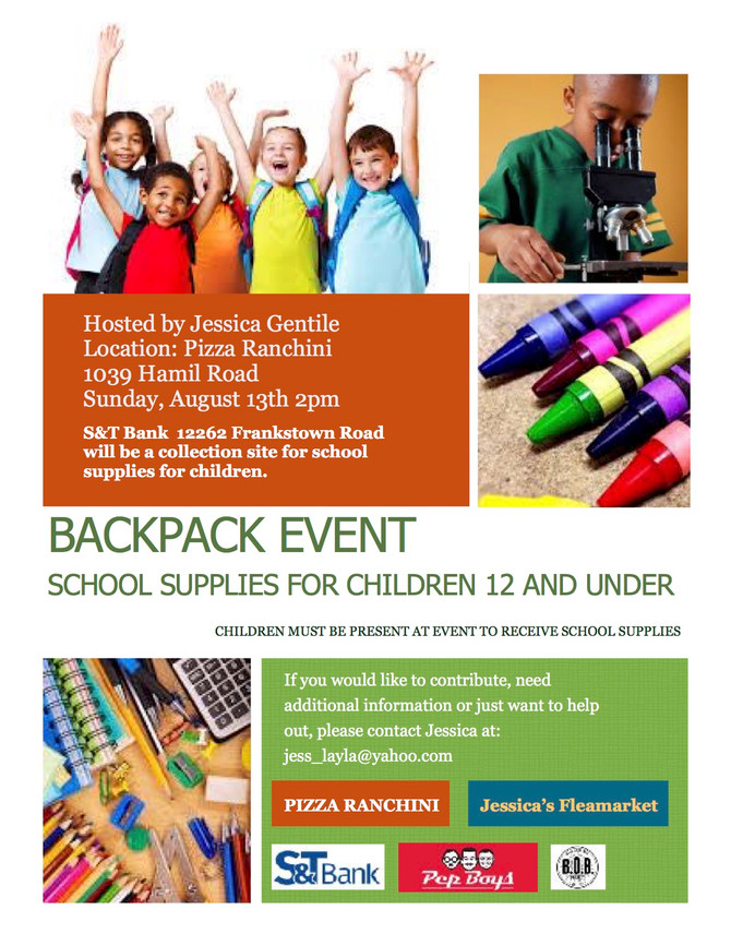 Backpack Event / Jessica Gentile