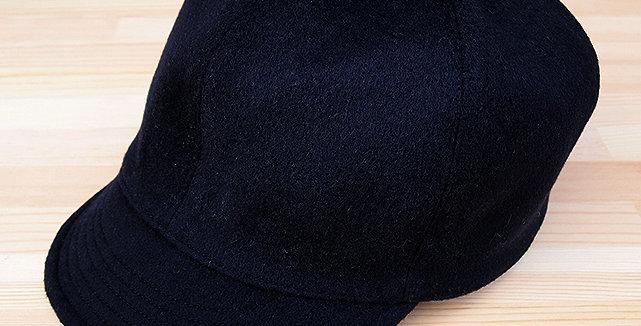 BASE BALL CAP NAVY (LEATHER BELT TYPE)