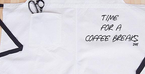 """APRON  (2WAY TYPE  """"WHITE COFFEE BREAK"""")"""