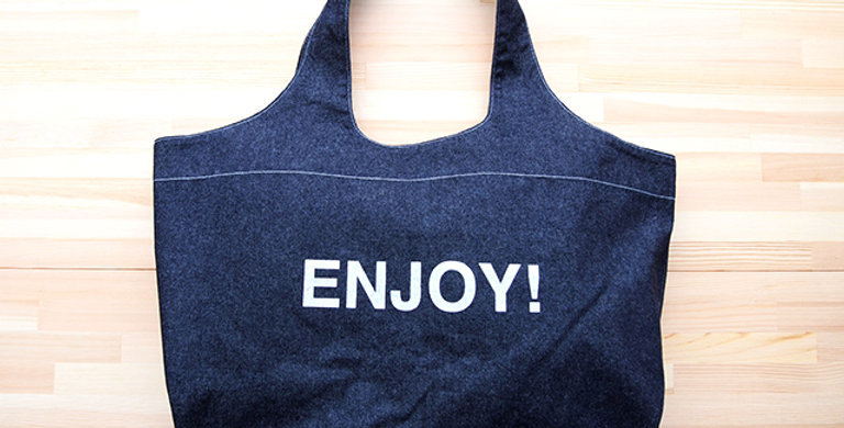 TOTE BAG DENIM (ENJOY!)