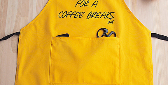 "APRON (TIME FOR A COFFEE BREAKS 24H"")"