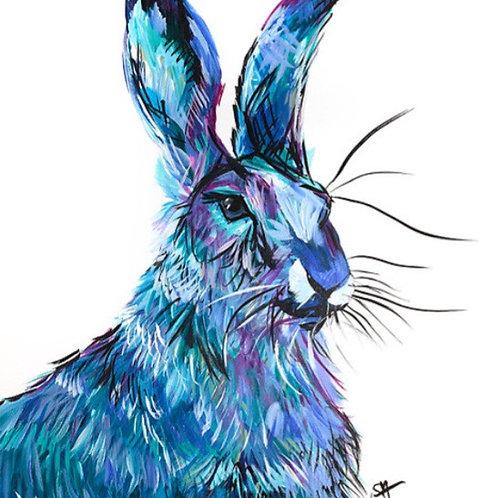 'BLUE HARE' Fine Art Open Run Print