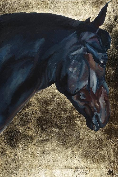 FULL SIZE, 'Blue Horse' Giclee Print