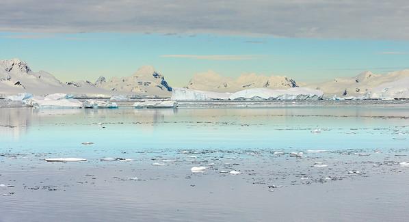 White on blue, Antarctica