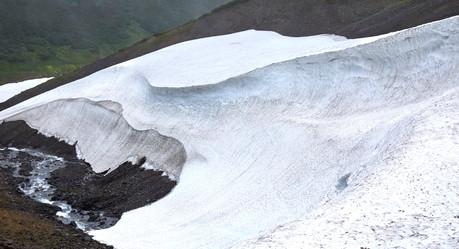 Ice cave entrance, Mutnovsky Kamchatka