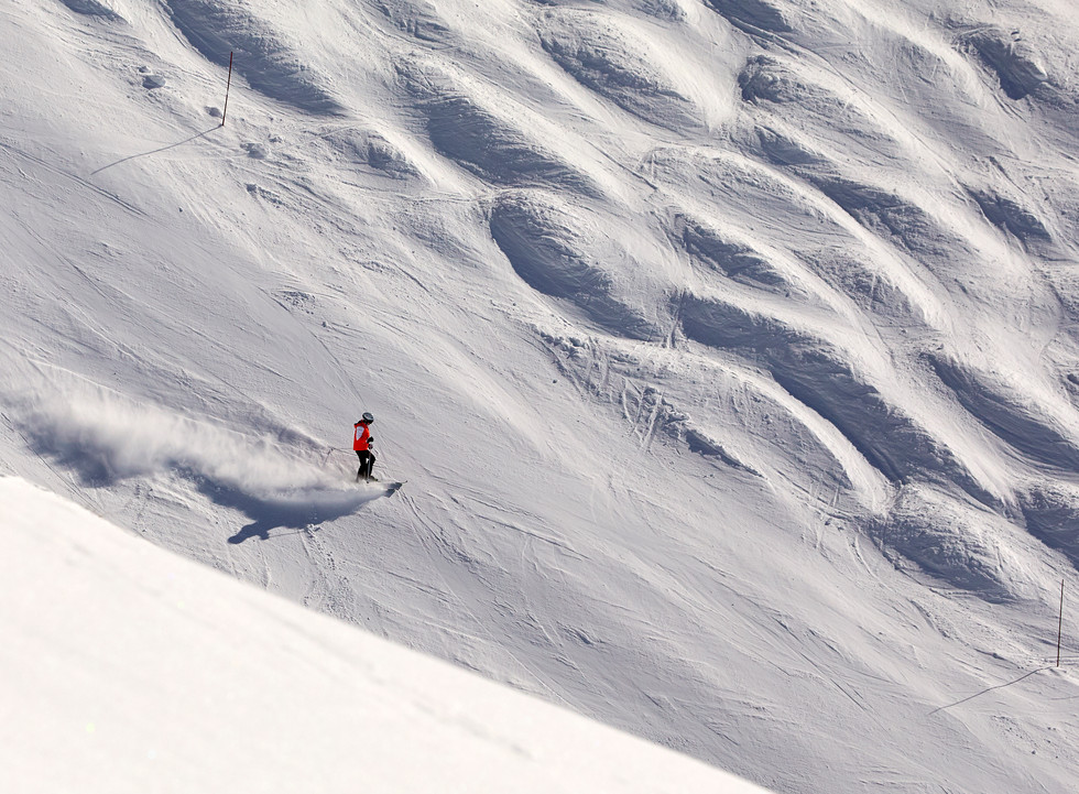 Carving it up, French Alps
