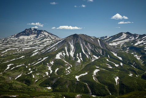 Snow covered mountains, Kamchatka