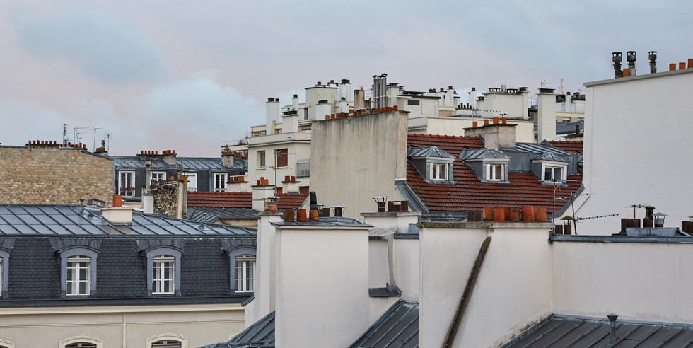 Parisian rooflines - Paris, France