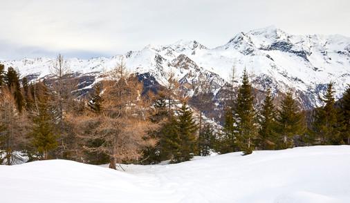 Glacier vista, French Alps