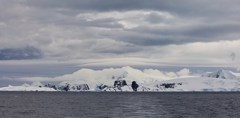 Clouded over, Antarctica