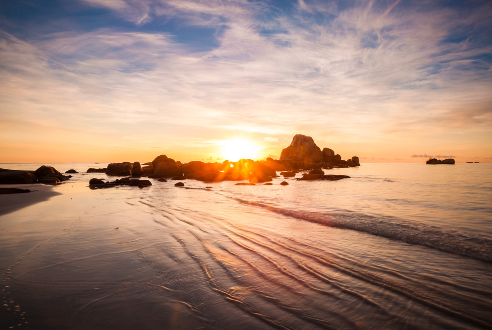 Sunrise Ripples, Picnic Rocks