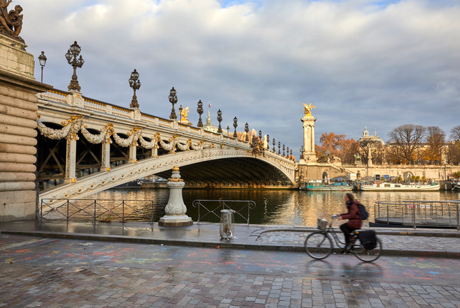 Crossing the RIver Seine - Paris, France