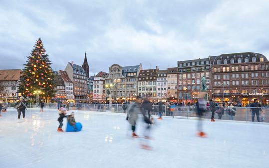 Christmas Ice Skating - Strasbourg, France