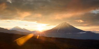 Sunrise, Tolbachik Kamchatka