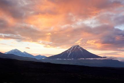 Volcano dawn, Tolbachik Kamchatka