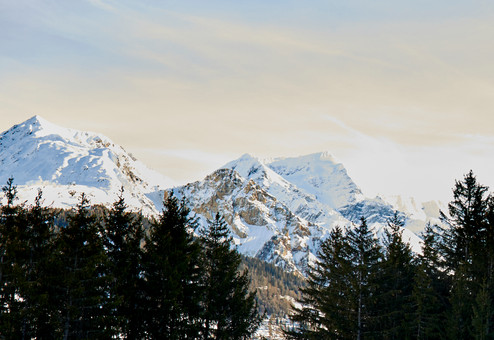 Rugged peaks, French Alps