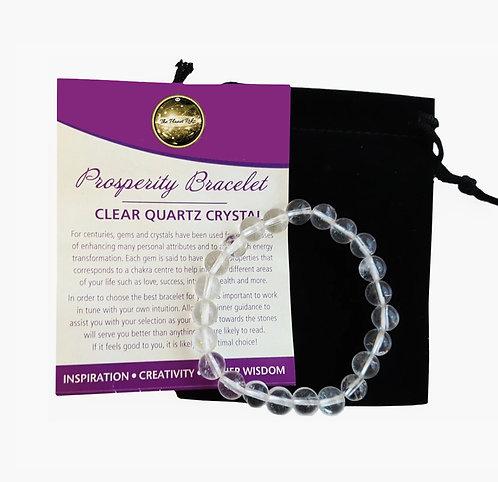 Violet Clear Quartz Gemstone Bracelet