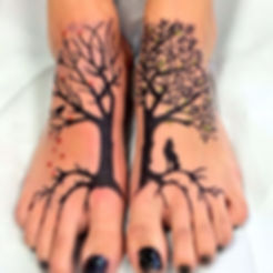 Cool-Tree-Of-Life-Tattoo-On-Girl-Feet co