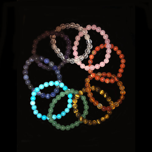 Rainbow Gemstone Bracelet Collection