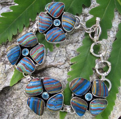 Rainbow Calsilica Bracelet