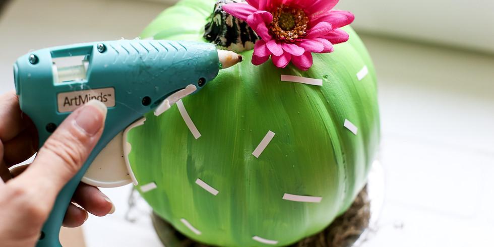 Workshop: Pumpkin Cactus (Kid Friendly)
