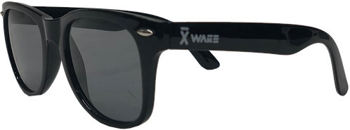 SUNGLASSES  X-WAKE LOGO , black/white