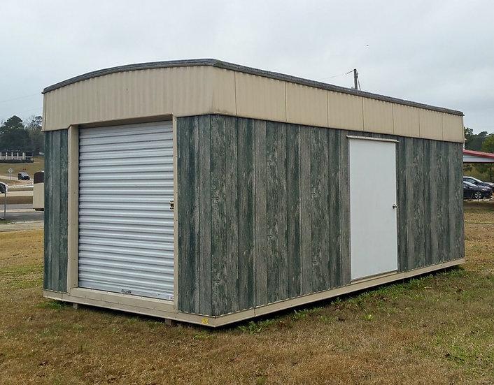 """10'x20'x8'-Deluxe- 1-6x6.5' Rollup Door, 1-48"""" Door, 1-Window"""