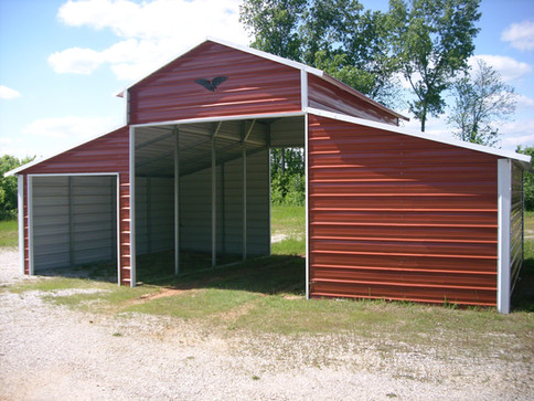 Eagle Carports- 36x21x12x8- Horse Barn