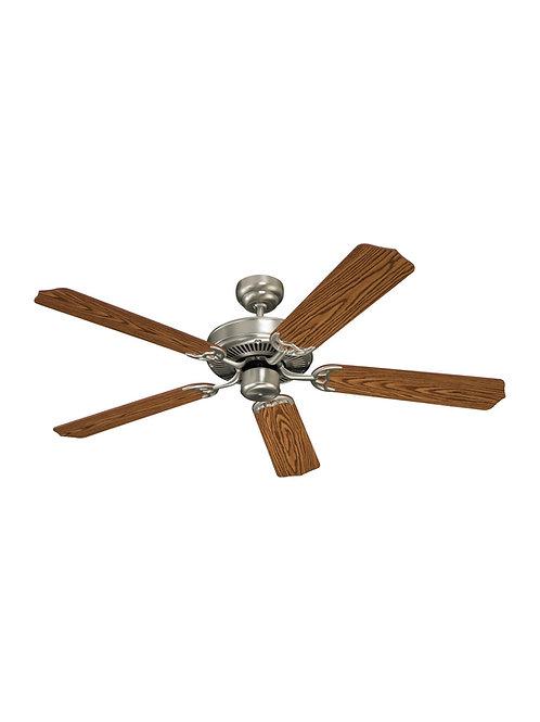 """52"""" Brushed Nickel/Oak Ceiling Fan"""