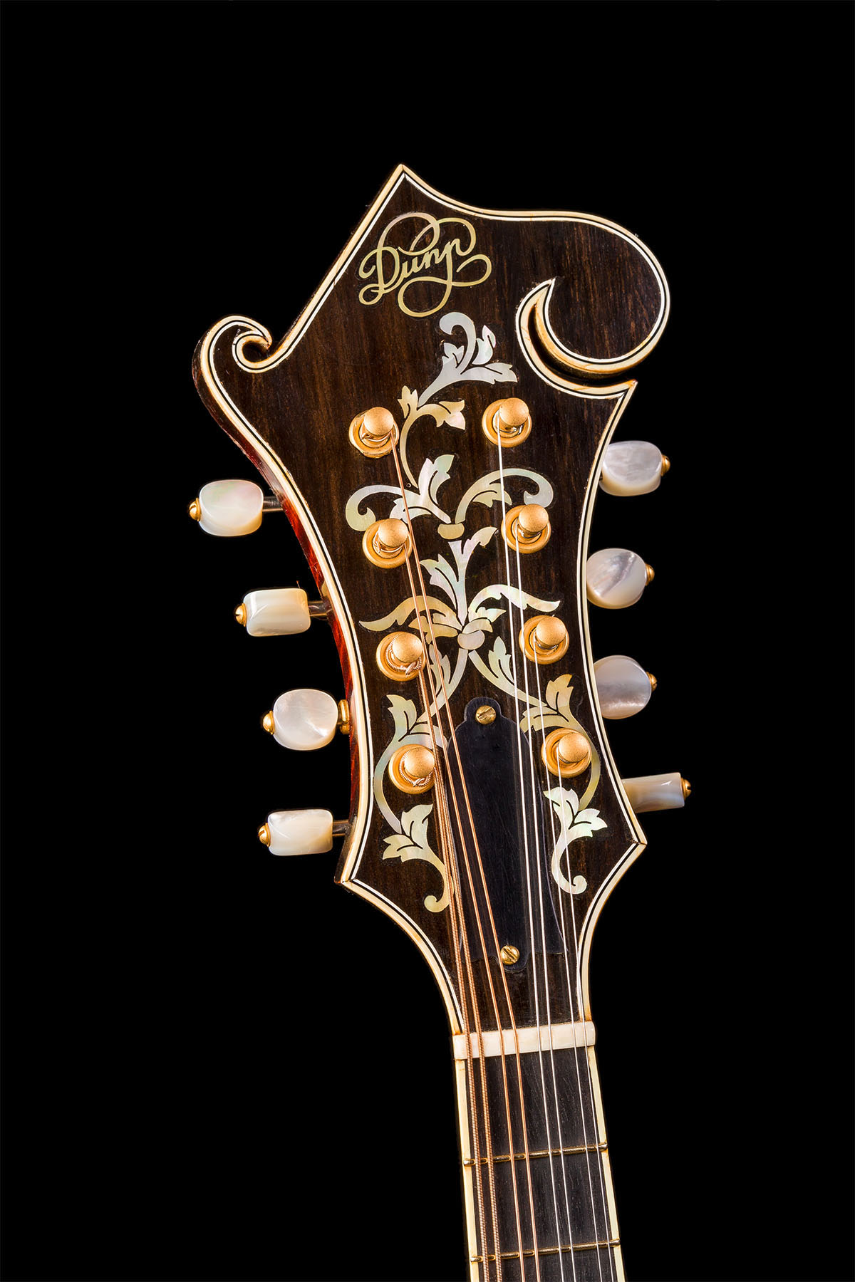 F5 mandolin custom peghead inlay