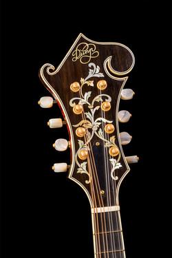 F5 mandolin custom peghead inlay