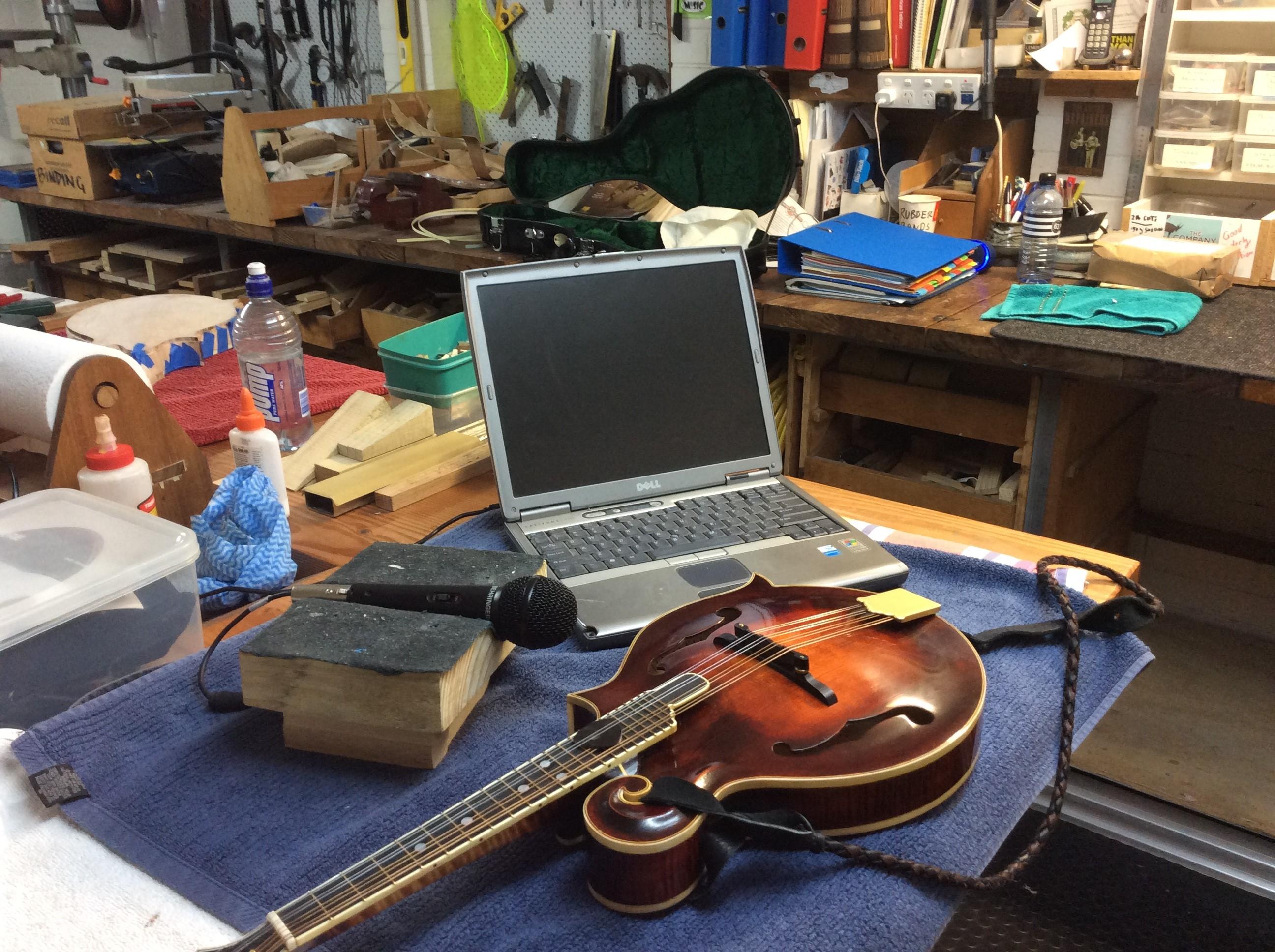 Tap tuning equipment set up
